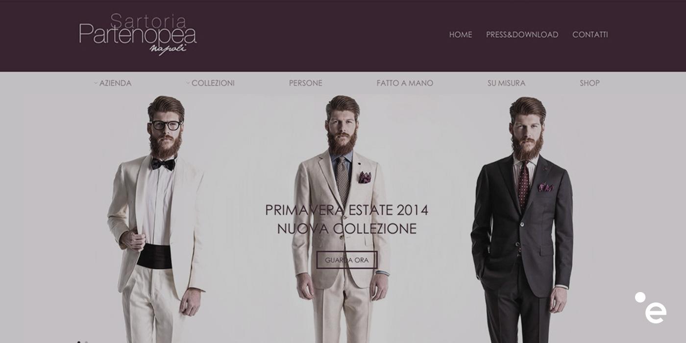 Online il nuovo sito web di Sartoria Partenopea.